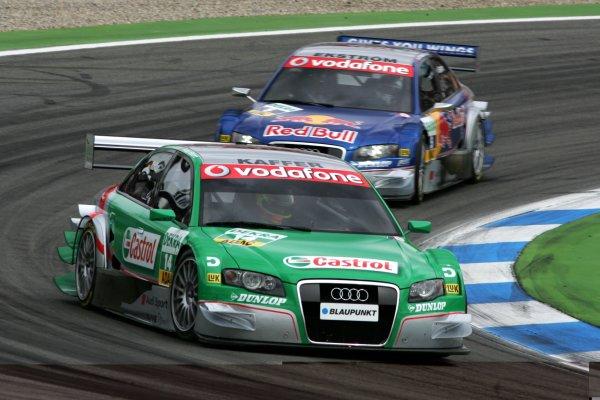 2006 DTM Championship.Round 1, Hockenheimring. 7th - 9th April 2006.Pierre Kaffer (GER), Audi Sport Team Phoenix, Audi A4 DTM, leads Mattias Ekström (SWE), Audi Sport Team Abt Sportsline, Audi A4 DTMWorld Copyright: Miltenburg/xpb cc/LATref: Digital Image Only