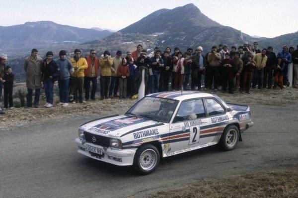 1982 World Rally Championship.Monte Carlo Rally, Monaco. 16-22 January 1982.Walter Rohrl/Christian Geistdorfer (Opel Ascona 400), 1st position.World Copyright: LAT PhotographicRef: 35mm transparency 82RALLY11