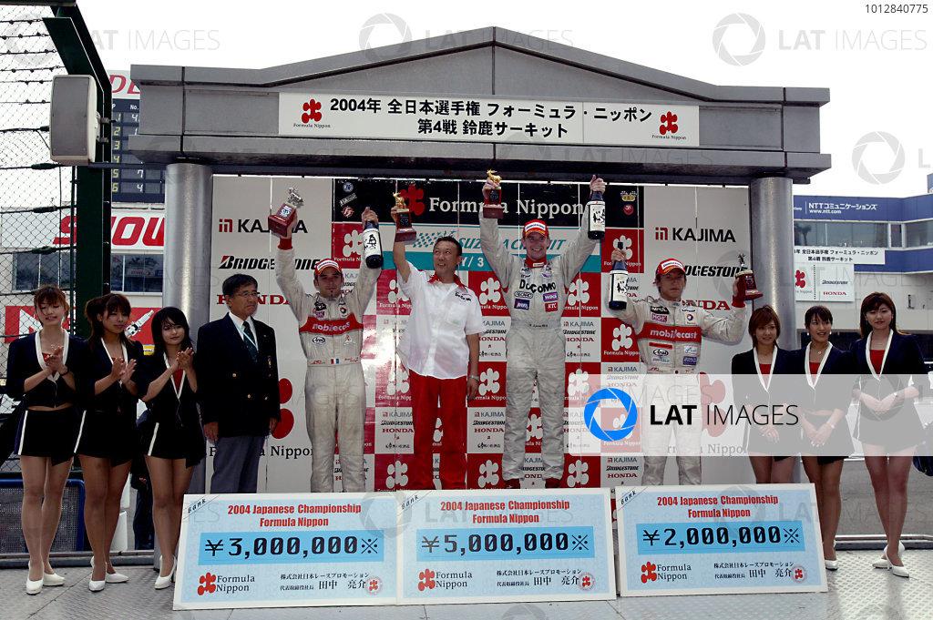 2004 Japanese Formula Nippon ChampionshipRd 4, Suzuka, Japan. 4th July.Podium.World Copyright: Ishihara/LAT Photgraphicref: Digital Image Only