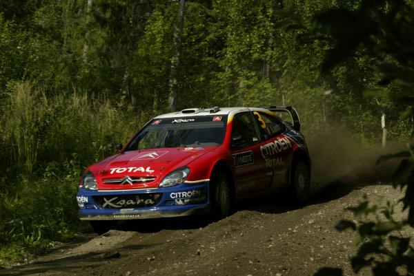 2004 FIA World Rally Champs. Round nine, Neste Rally Finland.5th - 8th August 2004.Sebastien Loeb, Citroen, action.World Copyright: McKlein/LAT
