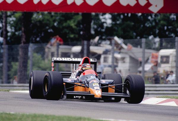 1990 San Marino Grand Prix.Imola, Italy.11-13 May 1990.Olivier Grouillard (Osella FA1M-E Ford).Ref-90 SM 31.World Copyright - LAT Photographic