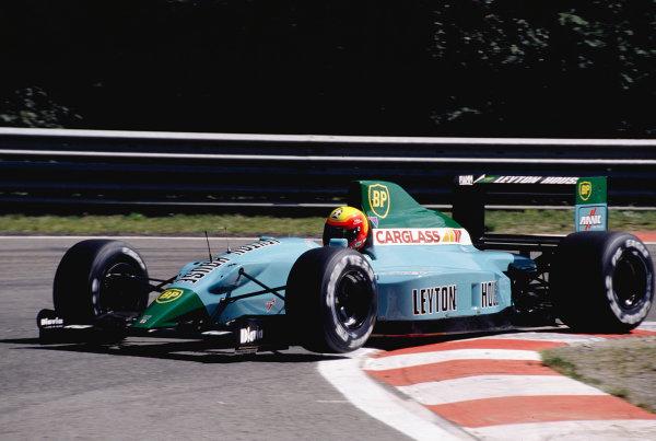 1990 Belgian Grand Prix.Spa-Francorchamps, Belgium.23-25 August 1990.Mauricio Gugelmin (Leyton House CG901 Judd) 6th position.Ref-90 BEL 17.World Copyright - LAT Photographic