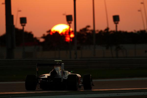 2014 GP3 Series Test 3.   Yas Marina Circuit, Abu Dhabi, United Arab Emirates. Saturday 29 November 2014. Kourosh Khani (IRI, Hilmer Motorsport)  Photo: Sam Bloxham/GP3 Series Media Service. ref: Digital Image _14P3041