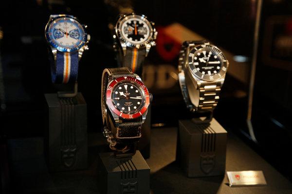 13 October, 2014, New York, New York USA Tudor watch display ©2014, Todd Davis LAT Photo USA