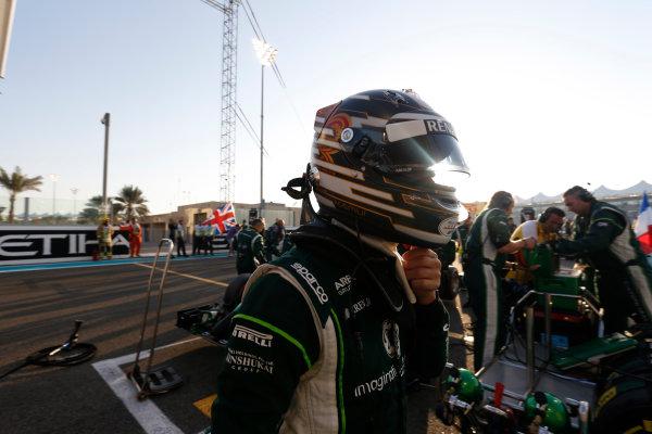 Yas Marina Circuit, Abu Dhabi, United Arab Emirates. Sunday 23 November 2014. Kamui Kobayashi, Caterham F1. World Copyright: Andrew Ferraro/LAT Photographic. ref: Digital Image _AND8969