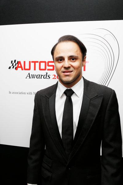 2015 Autosport Awards. Grosvenor House Hotel, Park Lane, London. Sunday 6 December 2015. Felipe Massa. World Copyright: Adam Warner/LAT Photographic. ref: Digital Image _L5R8991