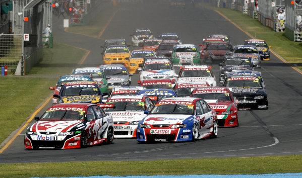 2004 Australian V8 Supercars.Non-Championship Round. Albert Park, Melbourne, 5th - 7th March.V8 Supercar race 1 start.World Copyright: Mark Horsburgh/LAT Photographicref: Digital Image Only