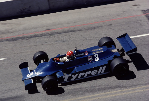 1981 United States Grand Prix West.Long Beach, California, USA.13-15 March 1981.Eddie Cheever (Tyrrell 010 Ford) 5th position.Ref-81 LB 46.World Copyright - LAT Photographic