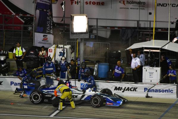 Takuma Sato, Rahal Letterman Lanigan Racing Honda pit stop