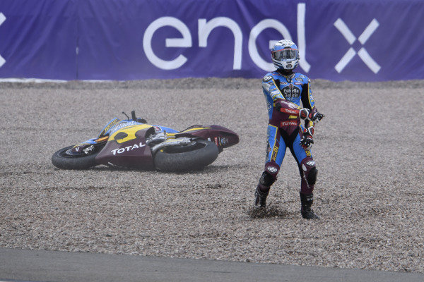 Xavi Vierge, Marc VDS Racing crash.
