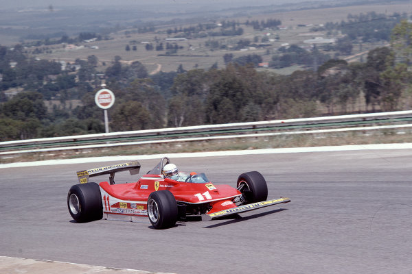 1979 South African Grand Prix.Kyalami, South Africa.1-3 March 1979.Jody Scheckter (Ferrari 312T4) 2nd position.Ref-79 SA 03.World Copyright - LAT Photographic