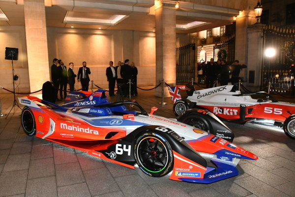 Formula E and W Series cars on display