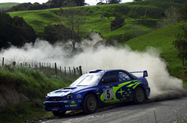 2001 World Rally Championship.Rally of New Zealand. September 20-23, 2001.Auckland, New Zealand.Richard Burns on stage 18.Photo: Ralph Hardwick/LAT