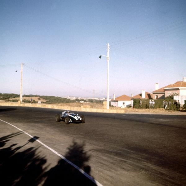 1959 Portuguese Grand Prix.Monsanto, Lisbon, Portugal.21-23 August 1959.Jack Brabham (Cooper T51 Climax).Ref-3/0118.World Copyright - LAT Photographic