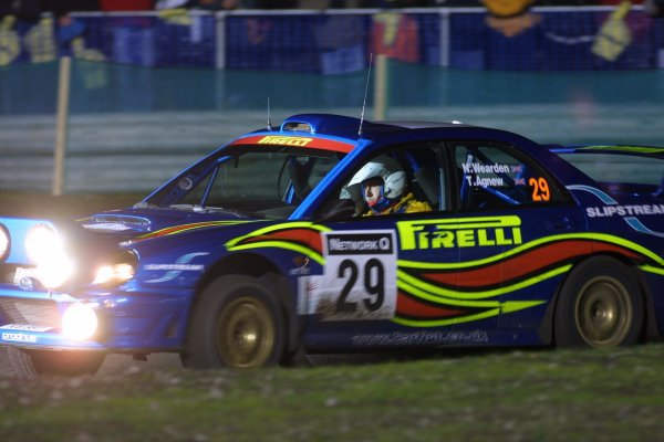 2001 FIA World Rally Championship. Rally of Great Britain. Cardiff, Wales.November 22-25, 2001. Neil Weardon, Subaru Impreza WRCPhoto: Paul Dowker. World - LAT Photographic.8 9mb Digital File Only