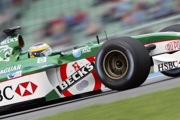 2002 German Grand Prix - PracticeHockenheim, Germany. 26th July 2002.Pedro de la Rosa (Jaguar R3).World Copyright: Steve Etherington/LATref: Digital Image Only