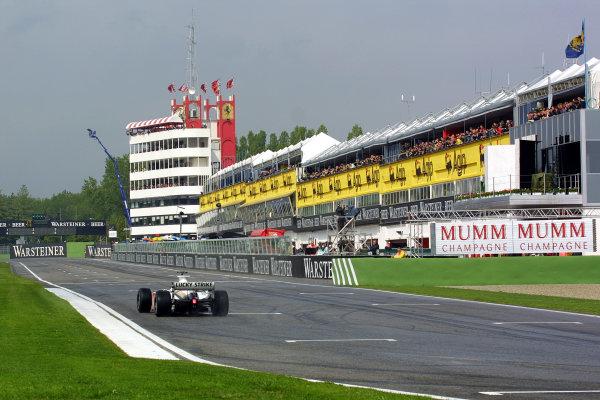 2001 San Marino Grand Prix.Imola, Italy. 13-15 April 2001.Jacques Villeneuve (B.A R. 003 Honda). World Copyright - LAT Photographicref: 8 9 MB Digital