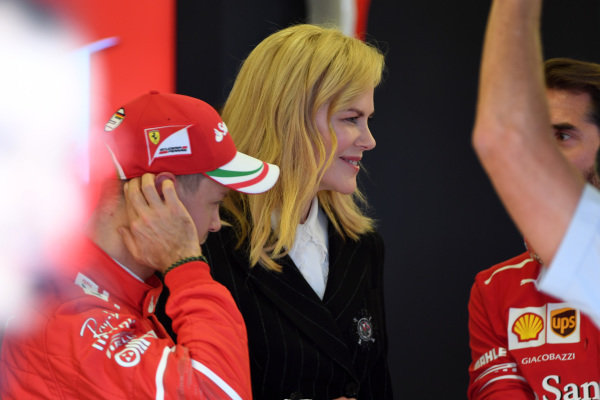 Nicole Kidman (AUS) and Sebastian Vettel (GER) Ferrari at Formula One World Championship, Rd1, Australian Grand Prix, Qualifying, Albert Park, Melbourne, Australia, Saturday 25 March 2017.