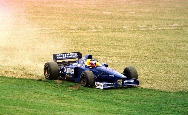 1997 Australian Grand Prix.Albert Park, Melbourne, Australia.7-9 March 1997.Shinji Nakano (Prost JS45 Mugen Honda) spins off.World Copyright - LAT Photographic