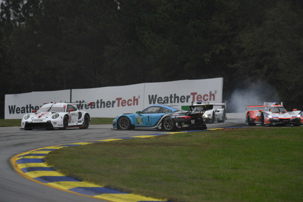 #16 Wright Motorsports Porsche 911 GT3 R, GTD: Ryan Hardwick, Patrick Long, Jan Heylen, #6 Acura Team Penske Acura DPi, DPi: Juan Pablo Montoya, Dane Cameron, Simon Pagenaud