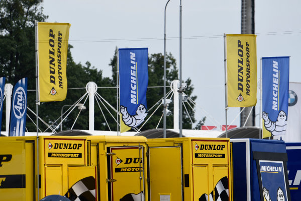 2017 MotoGP Championship - Round 10 Brno, Czech Republic Sunday 6 August 2017 Dunlop and Michelin flags World Copyright: Gold and Goose / LAT Images ref: Digital Image 50603