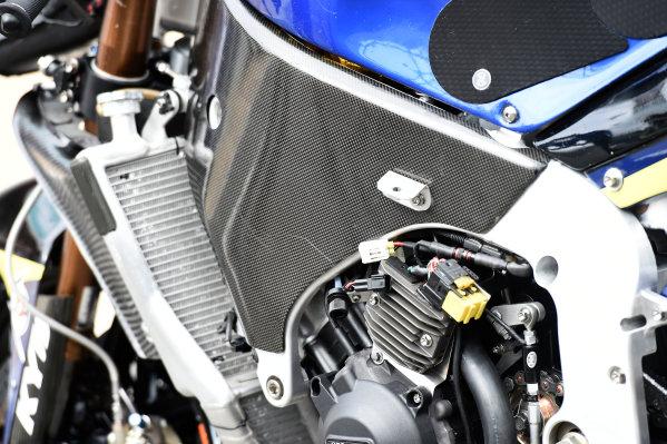 2017 Moto2 Championship - Round 16 Phillip Island, Australia. Thursday 19 October 2017 Xavi Vierge, Tech 3 Racing bike detail World Copyright: Gold and Goose / LAT Images ref: Digital Image 698227