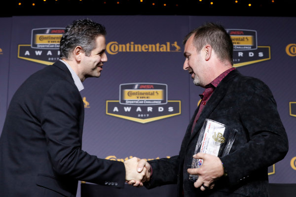 IMSA Continental Tire SportsCar Challenge Series Awards Banquet Road Atlanta, Braselton GA Friday 6 October 2017 VP Award,  World Copyright: Michael L. Levitt LAT Images