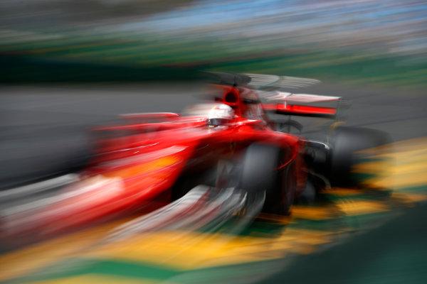 Albert Park, Melbourne, Australia. Friday 24 March 2017. Sebastian Vettel, Ferrari SF70H. World Copyright: Glenn Dunbar/LAT Images Ref: Digital Image _31I9566