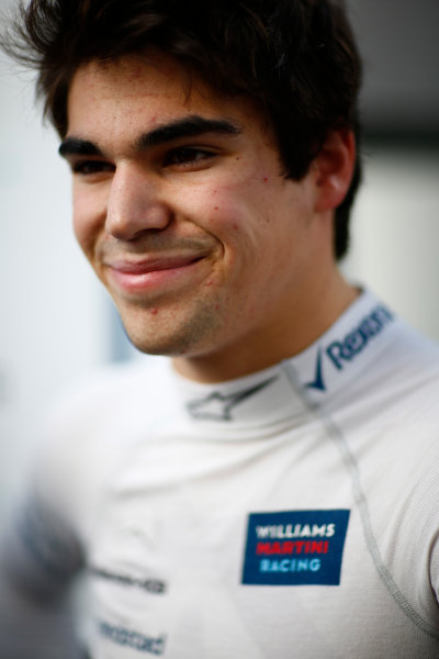 Sochi Autodrom, Sochi, Russia. Friday 28 April 2017. Lance Stroll, Williams Martini Racing. World Copyright: Andrew Hone/LAT Images ref: Digital Image _ONZ0352