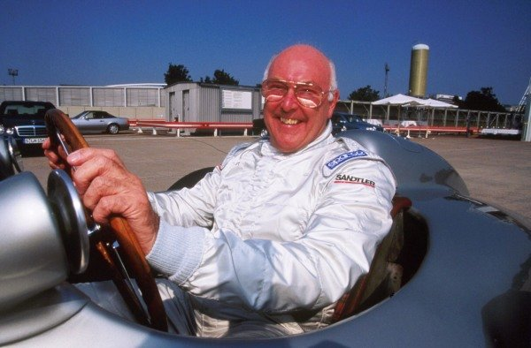 British TV commentator Murray Walker, about to test a  Mercedes F1 car at a test track in Stuttgart in 1999 Murray Walker Feature