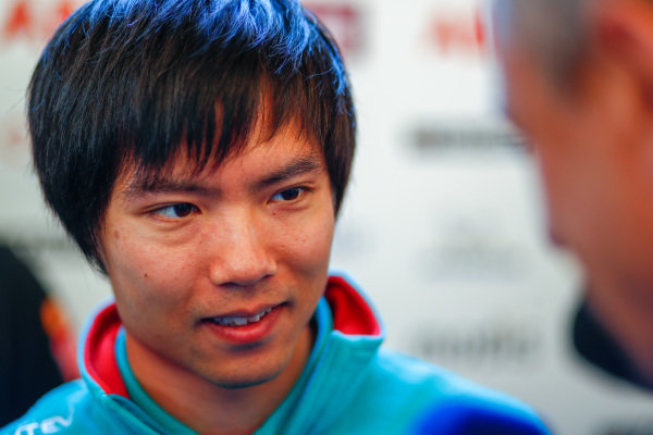 Ma Qing Hua (CHI), NIO Formula E Team, reserve driver, talks to the press.