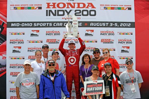 3-5 August, 2012, Lexington, Ohio USAWinner Scott Dixon in Victory Lane.(c)2012, F. Peirce WilliamsLAT Photo USA