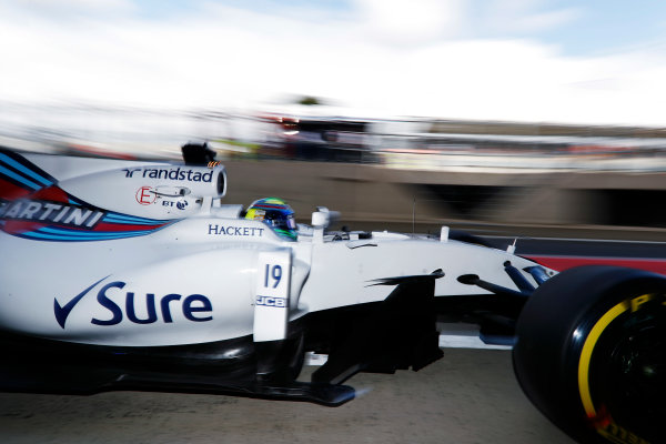 Silverstone, Northamptonshire, UK.  Friday 14 July 2017. Felipe Massa, Williams FW40 Mercedes.  World Copyright: Glenn Dunbar/LAT Images  ref: Digital Image _X4I3070