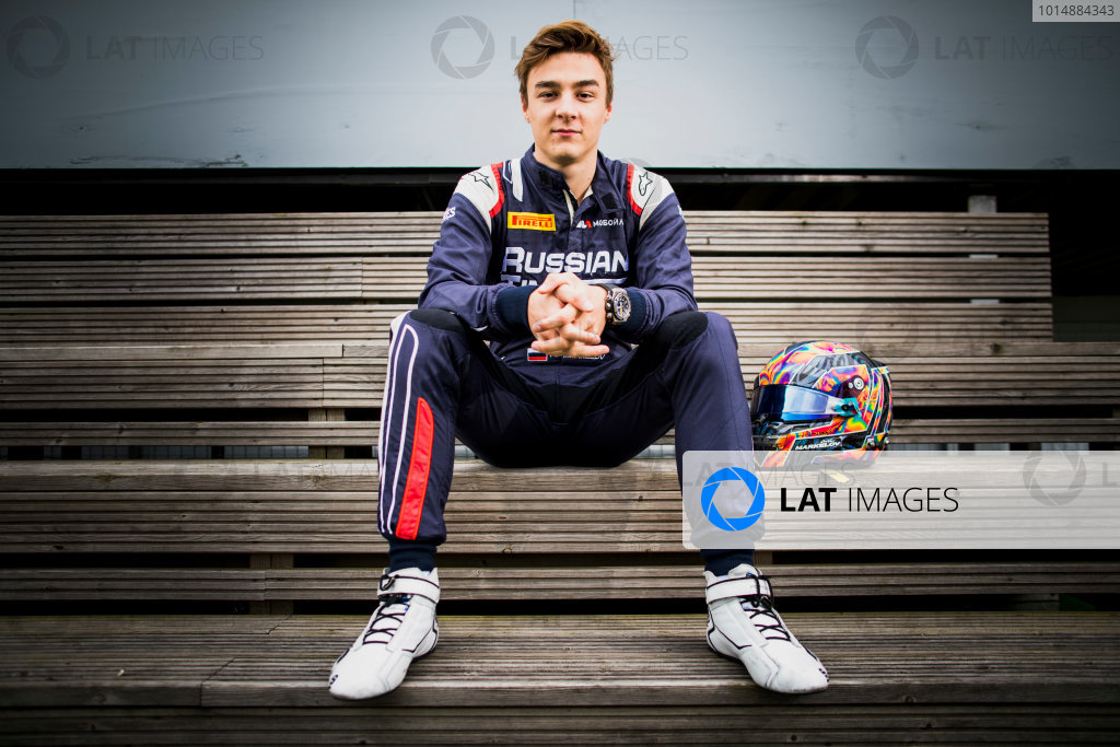 2017 FIA Formula 2 Round 6. Silverstone, Northamptonshire, UK. Thursday 13 July 2017. Artem Markelov (RUS, RUSSIAN TIME).  Photo: Zak Mauger/FIA Formula 2. ref: Digital Image _56I6296