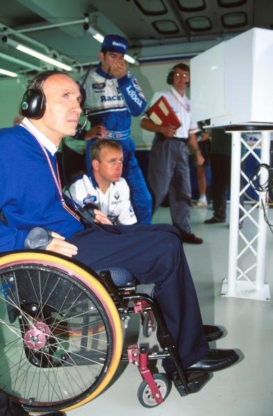 Frank Williams(GBR) Williams Team Boss, had another frustrating weekend.