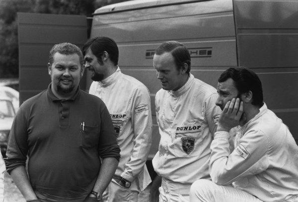 Monte Carlo, Monaco. 16th - 24th January 1970.Bjorn Waldegaard / Lars Helmer (Porsche 911S), 1st position, portrait.World Copyright: LAT Photographic.Ref: B/W Print.