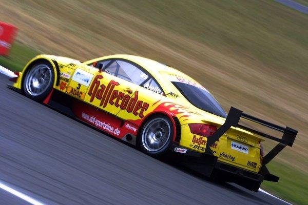 Laurent Aiello (FRA) Team Abt Audi TT won the qualifying race.DTM Championship, Rd6, Lausitzring, Germany. 14 July 2002.DIGITAL IMAGE