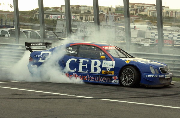 Patrick Huisman (NED) CEB AMG-Mercedes CLK,  thanks his home-fans with a donut after the race.