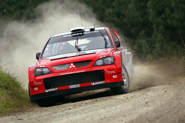 2004 FIA World Rally Champs. Round four, Propecia Rally New Zealand.15th-18th April 2004.Kristian Sohlberg, Mitsubishi, action.World Copyright: McKlein/LAT