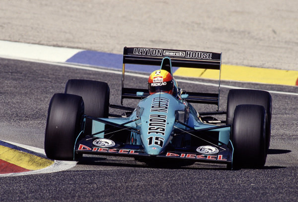 1988 French Grand Prix.Paul Ricard, Le Castellet, France.1-3 July 1988.Mauricio Gugelmin (March 881 Judd) 8th position.Ref-88 FRA 21.World Copyright - LAT Photographic