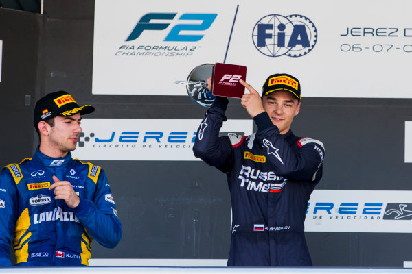 2017 FIA Formula 2 Round 10. Circuito de Jerez, Jerez, Spain. Sunday 8 October 2017. Artem Markelov (RUS, RUSSIAN TIME).  Photo: Zak Mauger/FIA Formula 2. ref: Digital Image _X0W2917