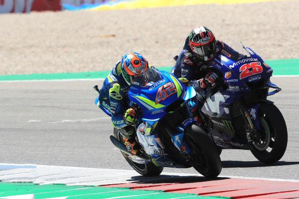 Alex Rins, Team Suzuki MotoGP, Maverick Viñales, Yamaha Factory Racing.