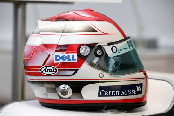 2006 Hungarian Grand Prix - Thursday PreviewHungaroring, Budapest, Hungary. 3rd - 6th August.The helmet of Robert Kubica, BMW Sauber F1 06.World Copyright: Charles Coates/LAT Photographicref: Digital Image ZK5Y2711