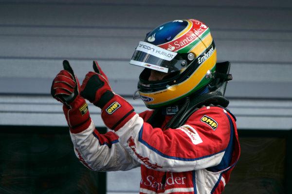 Hungaroring, Budapest. 3rd August 2008. Sunday Race.Bruno Senna (BRA, iSport International). World Copyright: Alastair Staley/GP2 Series Media Service. ref: Digital Image _MG_8418