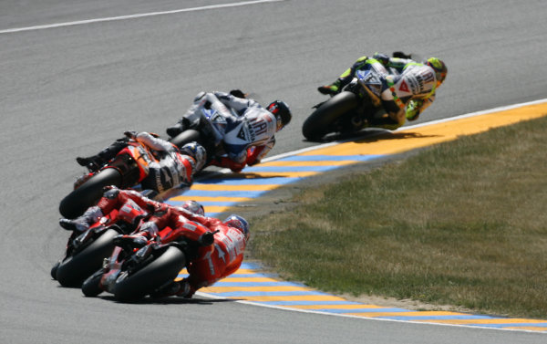 France LeMans 21- 23 May 2010Rossi leads Lorenzo Pedrosa Hayden and Stoner
