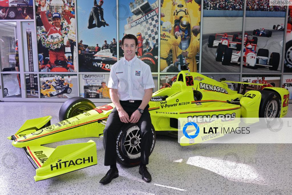 22 March,  2016, Indianapolis, Indiana USA Penske Indy 500 Sponsor Press Conference Simon Pagenaud ©2016 Walt Kuhn LAT Photo USA