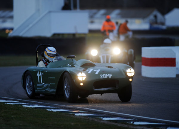 2016 74th Members Meeting Goodwood Estate, West Sussex,England 19th - 20th March 2016 Race 12 Peter Collins Trophy Richard Woolmer HWM Cadillac World Copyright : Jeff Bloxham/LAT Photographic Ref : Digital Image