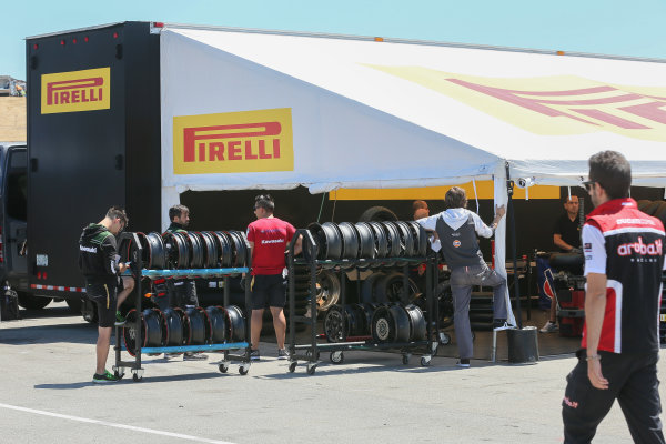 2017 Superbike World Championship - Round 8 Laguna Seca, USA. Friday 7 July 2017 Pirelli tyres World Copyright: Gold and Goose/LAT Images ref: Digital Image 682925