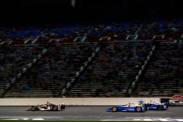 Verizon IndyCar Series Rainguard Water Sealers 600 Texas Motor Speedway, Ft. Worth, TX USA Saturday 10 June 2017 Will Power, Team Penske Team Penske Chevrolet, Scott Dixon, Chip Ganassi Racing Teams Honda World Copyright: Phillip Abbott LAT Images ref: Digital Image abbott_texasIC_0617_4895