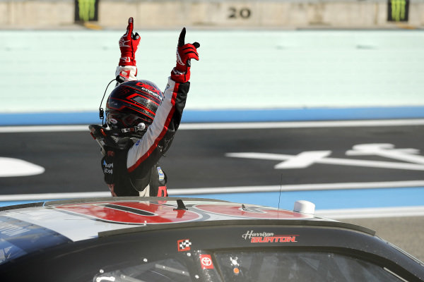 Race winner Harrison Burton, Joe Gibbs Racing Toyota DEX Imaging, Copyright: Michael Reaves/Getty Images.